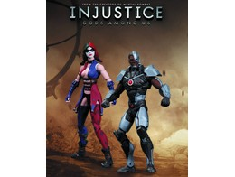 Figura Injustice Cyborg Vs Harley Quinn 2 Pack