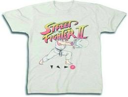 Polera Street Fighter Ryu Hadoken Cream