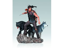 Estatua Walking Dead Tv Daryl & The Wolves 1/8