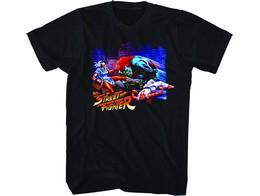 Polera Capcom Street Fighter Alley Fight Black