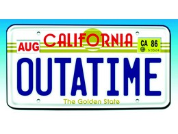 BTTF Out A Time License Plate Replica