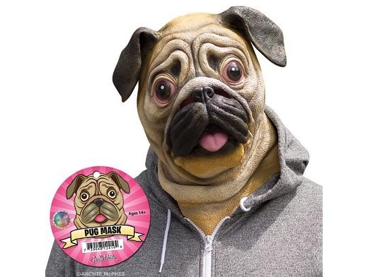 Máscara Cabeza de perro Pug