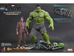Estatua Bruce Banner and Hulk by Hot Toys