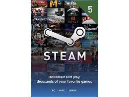 Recarga Prepago Steam Wallet USD$5 (DIGITAL)
