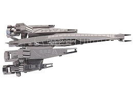 Mass Effect 3D Laser-cut Model Normandy SR2