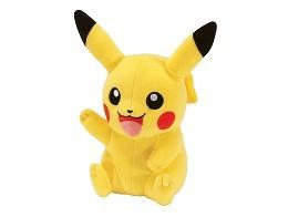 Peluche Pikachu sentado saludando (20 cms)