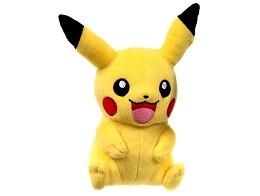 Peluche Pikachu sentado (20 cms)
