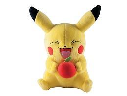 Peluche Pikachu comiendo manzana Grande (28 cms)