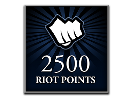 Recarga Riot Points LoL 2500 RP (DIGITAL)