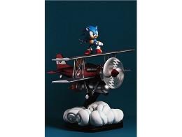 Estatua Sonic the Hedgehog The Tornado Diorama