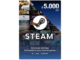 Recarga Prepago Steam Wallet CLP$5.000 (DIGITAL)