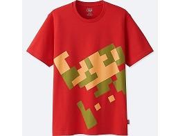 Polera Uniqlo Nintendo Pixel Mario XS-