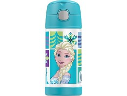 Botella Thermos Funtainer 12oz Frozen Elsa Aqua