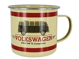 Volkswagen Campervan Enamel Mug
