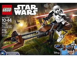 LEGO Star Wars 75532 Scout Trooper & Speeder Bike