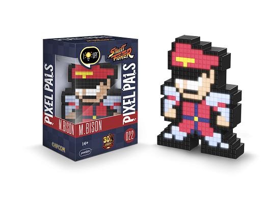 Figura con Luz Pixel Pals: M. Bison