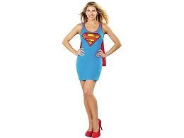DC Superman Cape Tank Dress L