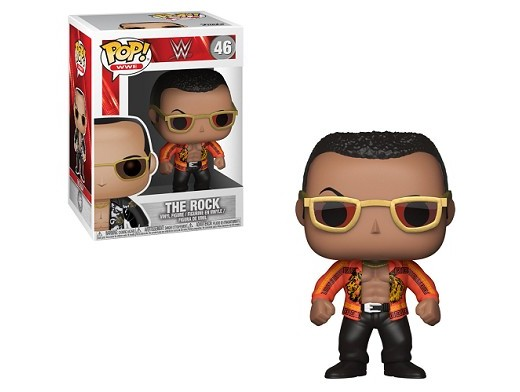 Figura Pop! WWE - The Rock (Chaqueta Naranja)