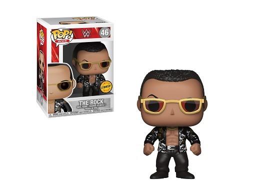Figura Pop! WWE - The Rock Chase (Chaqueta Negra)