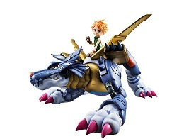 Estatua Digimon Ad Metal Garurumon & Ishida G.E.M.