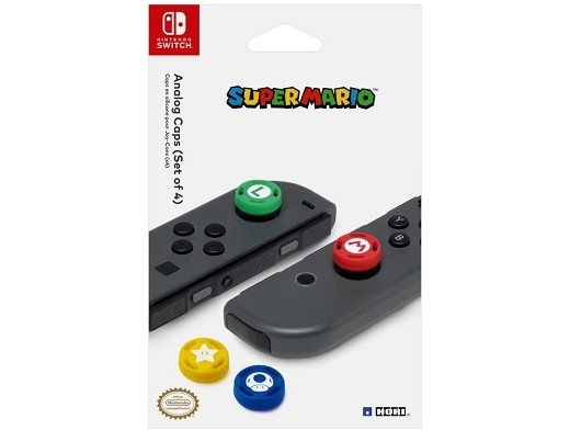 Super Mario Analog Caps (x4) NSW