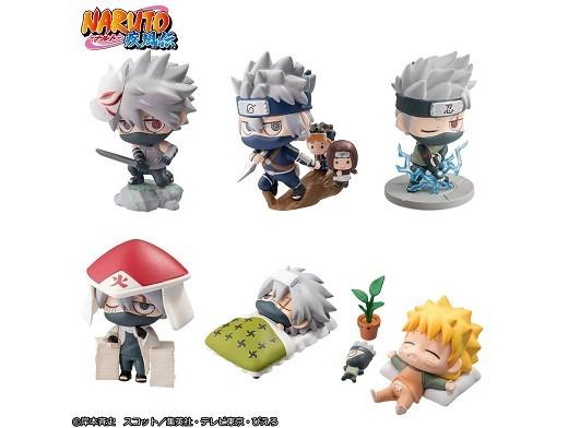 Set Figura Naruto Kakashi Special Petit Chara Land