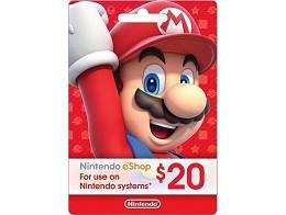 Tarjeta Prepago Nintendo eShop US$20 (DIGITAL)