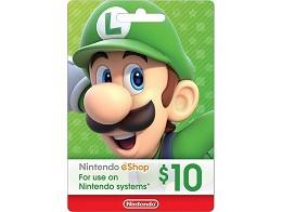 Tarjeta Prepago Nintendo eShop US$10 (DIGITAL)