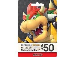 Tarjeta Prepago Nintendo eShop US$50 (DIGITAL)