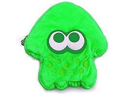 Splatoon 2 Squid Plush Pouch (Neon Green) NSW