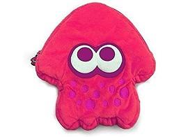 Splatoon 2 Squid Plush Pouch (Neon Pink) NSW