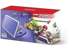 Nintendo new 2DS XL Purple Silver + Mario Kart 7