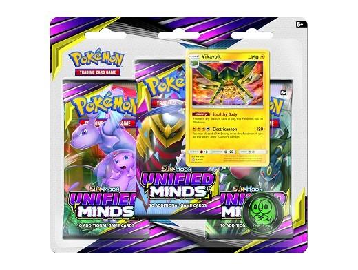 Pokémon TCG 3-Pack Unified Minds - Vikavolt