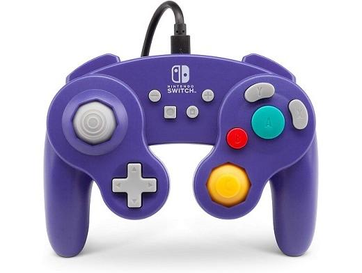 Control con Cable GameCube PowerA Morado NSW
