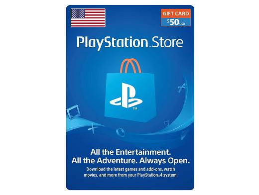 Tarjeta PSN PlayStation USA USD$50 (DIGITAL)