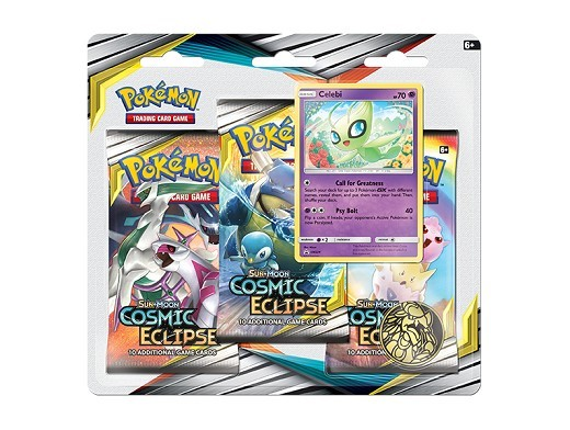 Pokémon TCG 3-Pack Cosmic Eclipse - Celebi
