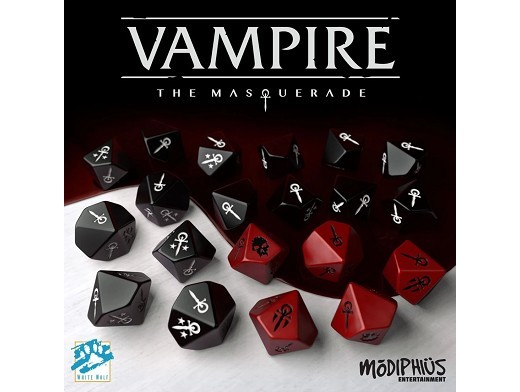 Set de 20 dados Vampiro: La Mascarada