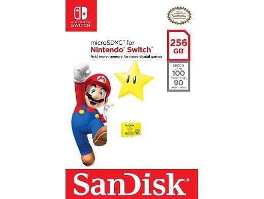 Tarjeta de Memoria SanDisk 256GB microSDXC NSW