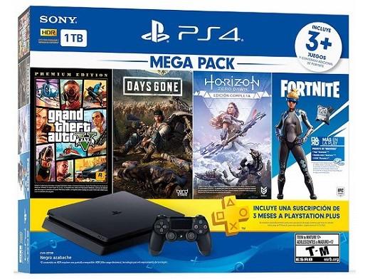 PlayStation 4 1TB Mega 6 - HZD - DG - GTAV Bundle