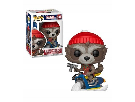 Figura Pop: Marvel Holiday - Rocket (Holiday)