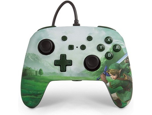 Control con Cable PowerA Enhanced Link Hyrule NSW