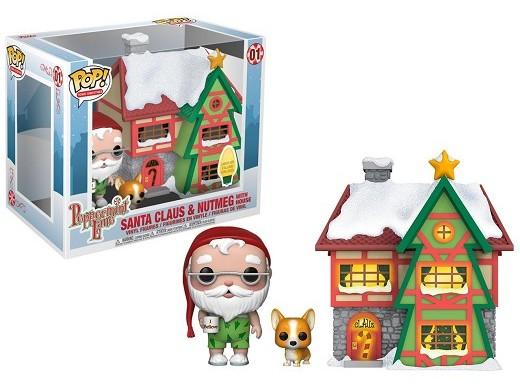 Figura Pop Town - Santa's House, Santa & Nutmeg