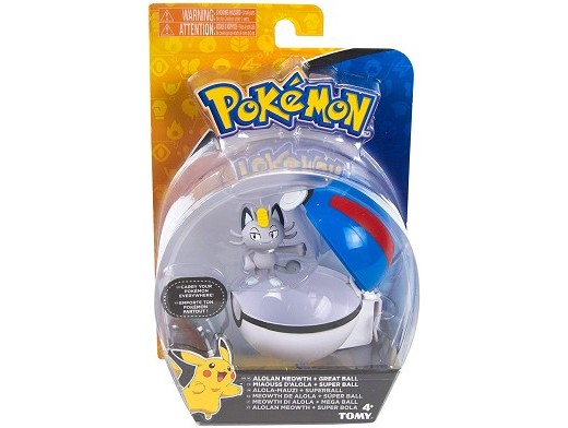 Pokémon Clip And Carry Alolan Meowth Great Ball
