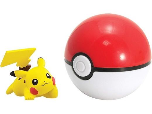 Pokémon Clip And Carry Pikachu and Poke Ball