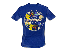Polera Pokémon Alola Starters Blue (niño)