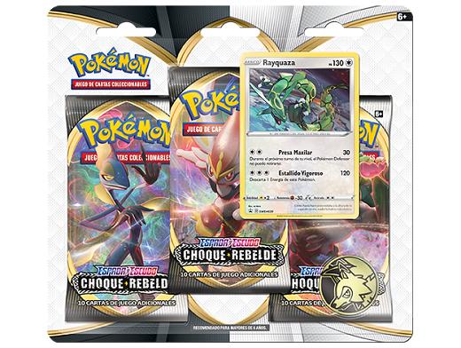 Pokémon TCG 3-Pack Choque Rebelde Rayquaza