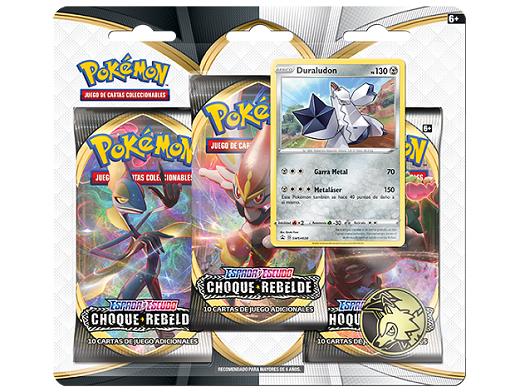 Pokémon TCG 3-Pack Choque Rebelde Duraludon