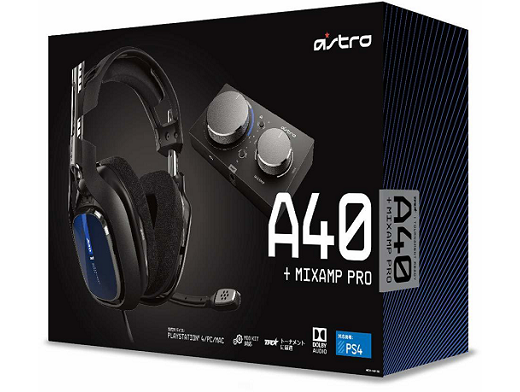 ASTRO Gaming A40 TR Headset + MixAmp Blue PS4