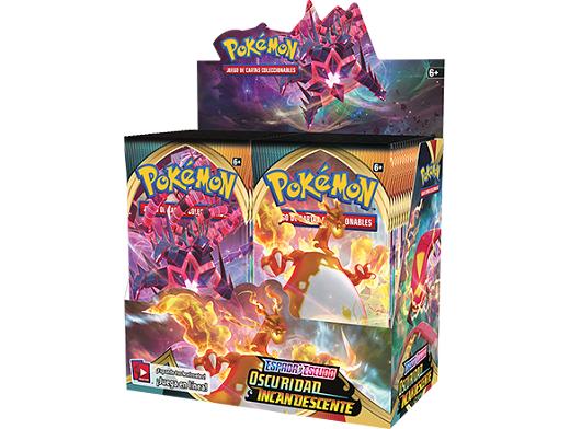 Display sobres Pokémon TCG Oscuridad Incandescente