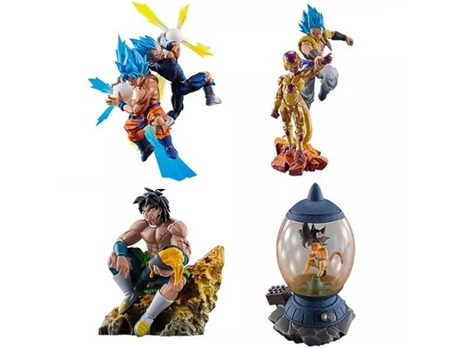 Set 4 Figuras Dragonball Super Dracap Re Birth